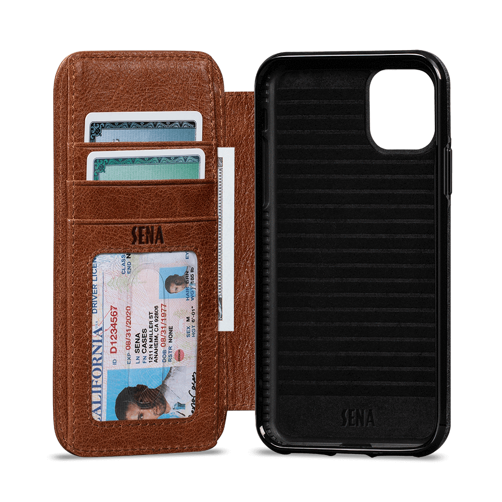Wallet Book Case for iPhone 11 Pro Max (Cognac)