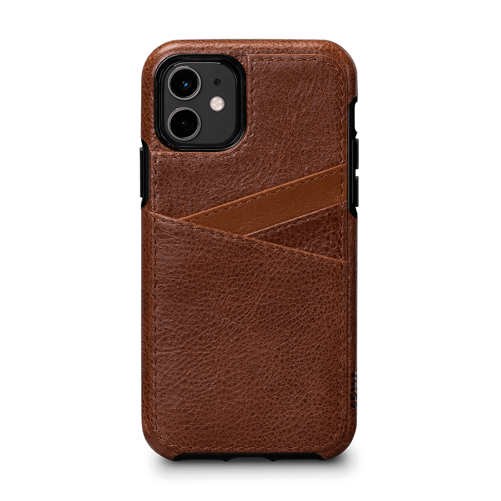 Lugano Wallet Case for iPhone 11 (Cognac/Apricot)