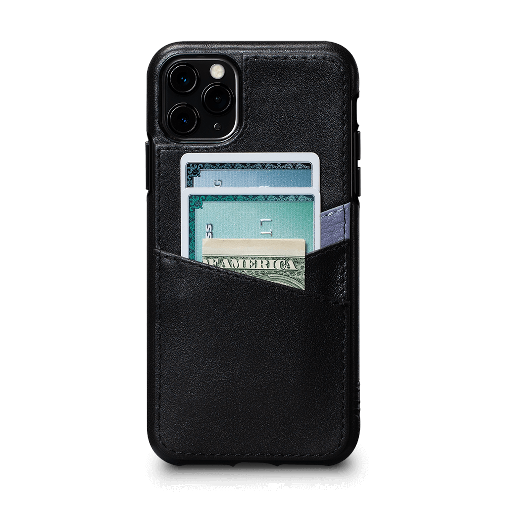 Lugano Wallet Case for iPhone 11 Pro Max (Black/Periwinkle)