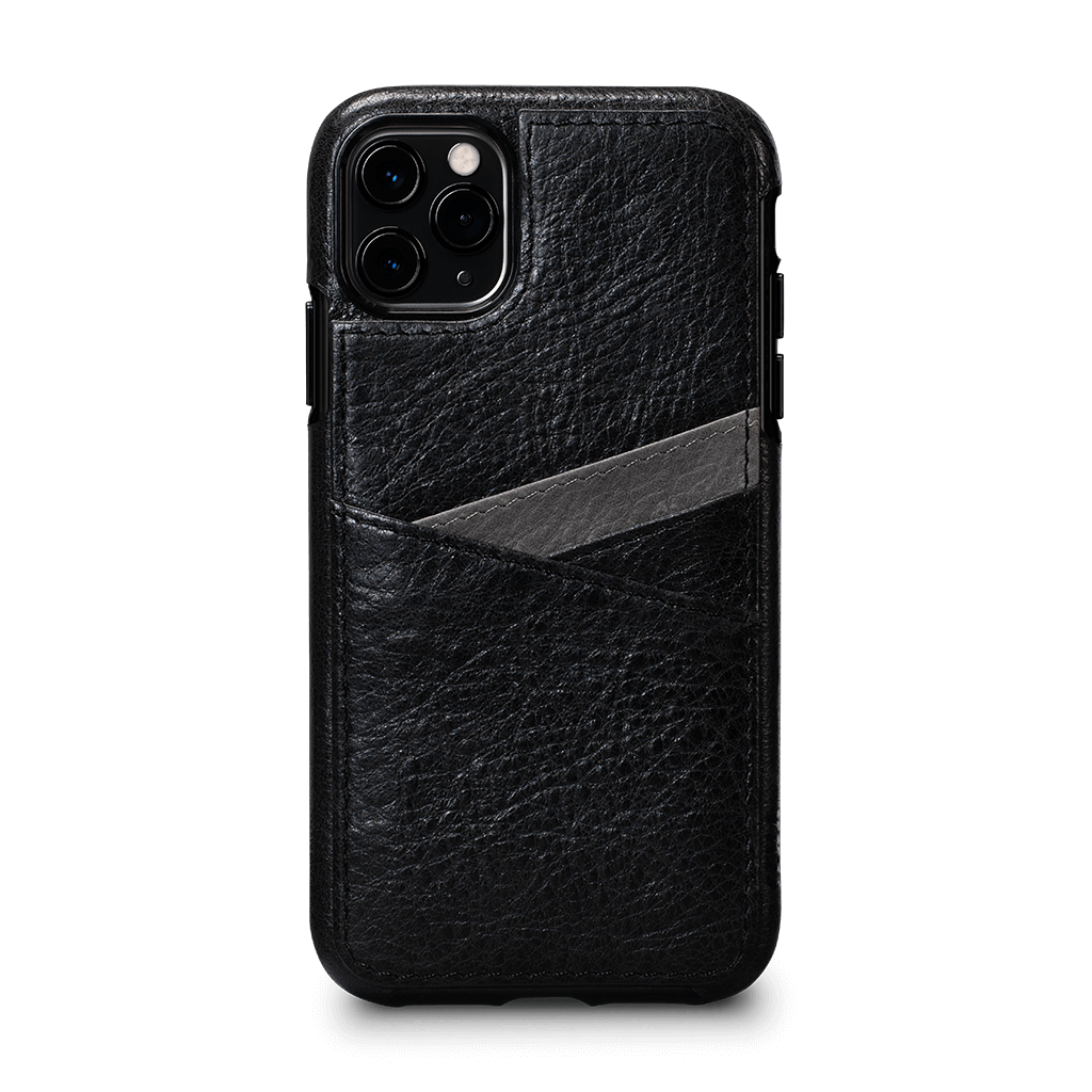 Lugano Wallet Case for iPhone 11 Pro Max (Black/Gray)