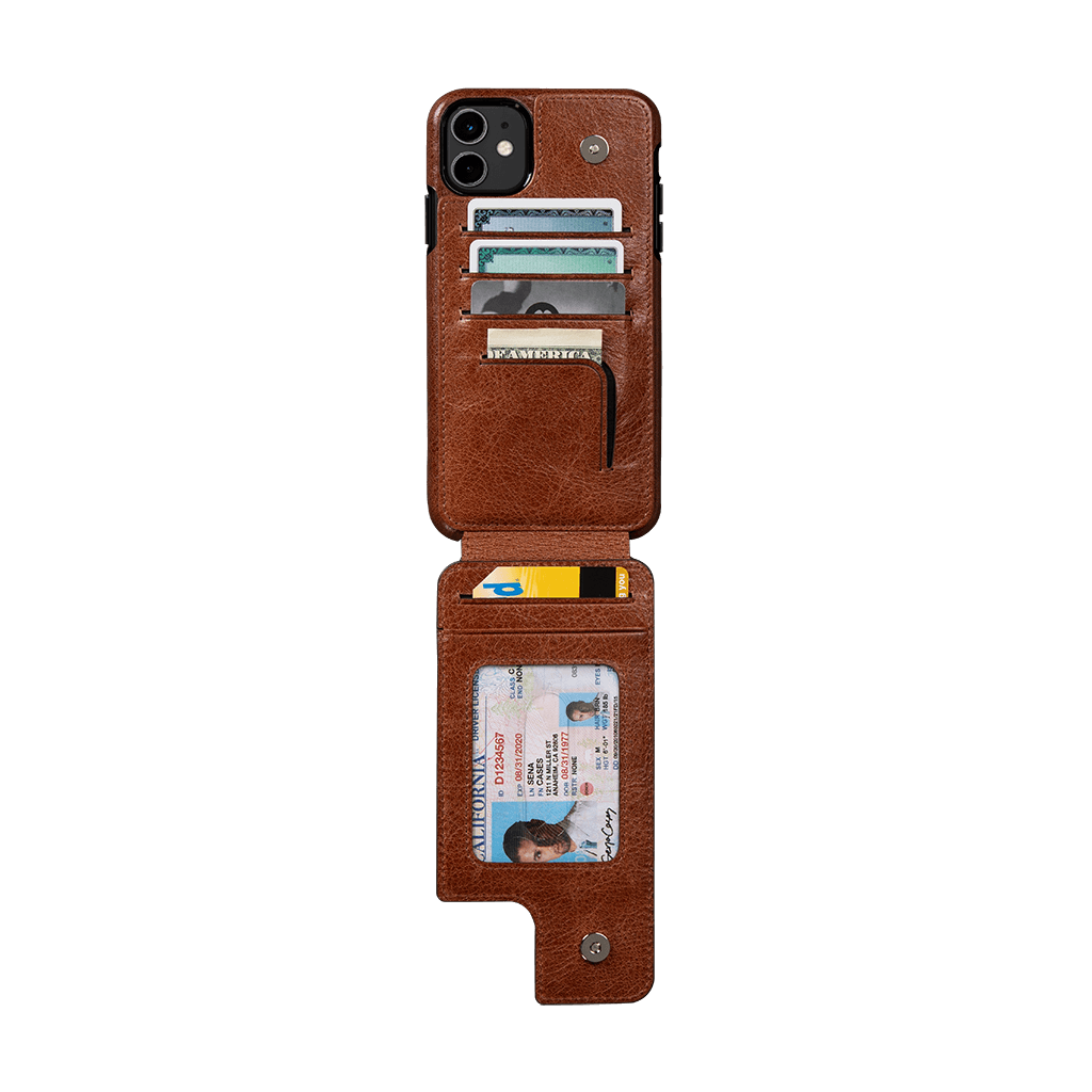 Walletskin for iPhone 11 Case (Cognac)