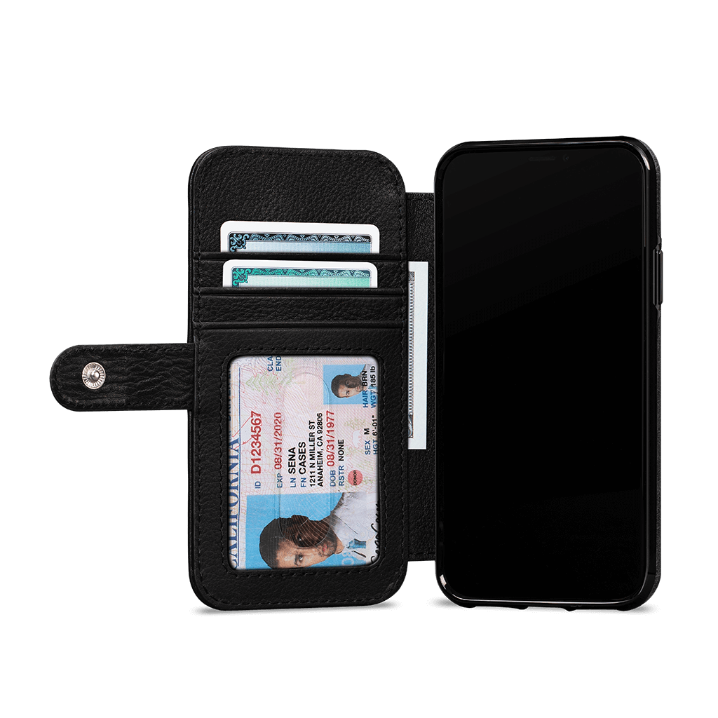 Wallet Book Classic Case for iPhone 11 Pro (Black)