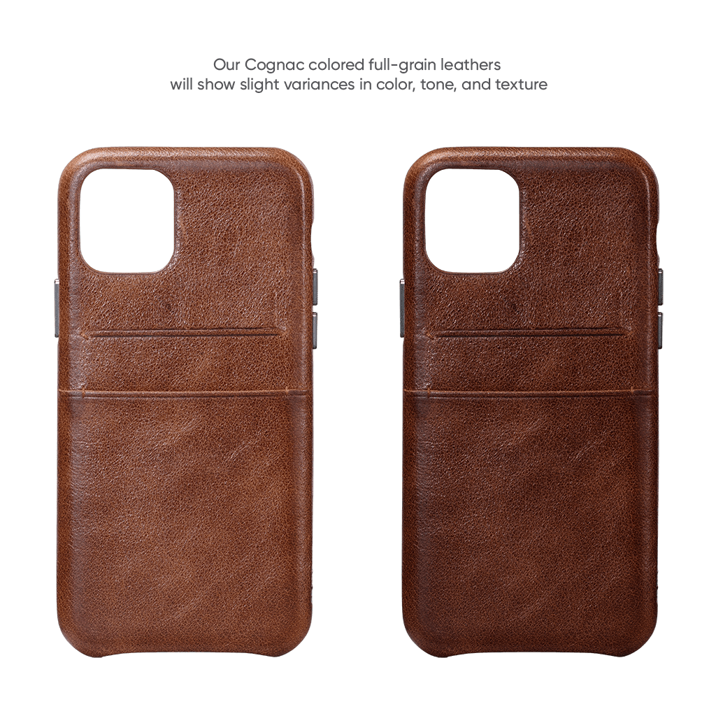Snap On Wallet  Case for iPhone 11 (Cognac)