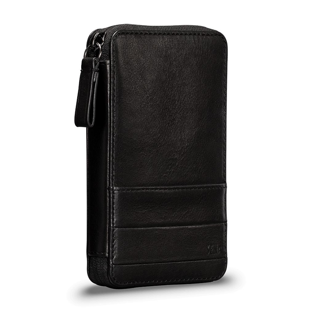 Deen Leather Zip-Around Travel Wallet