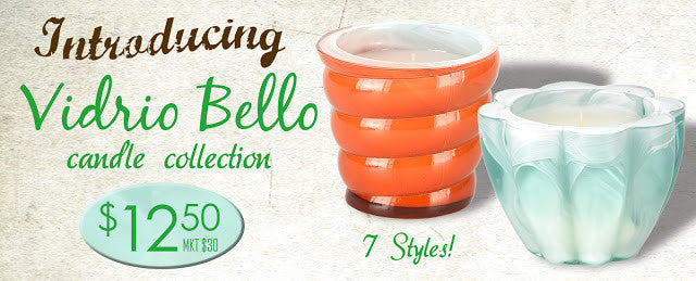 Introducing the New Vidrio Bello Candle Collection