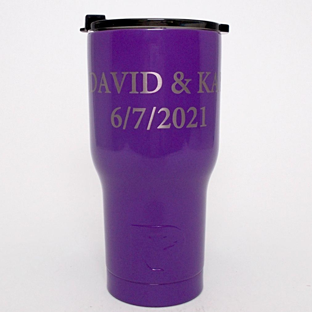 6aa05c0e3aa 20 oz Personalized RTIC Tumbler - Purple with up to 3 LINES - Click he –  Celebrating Home Direct