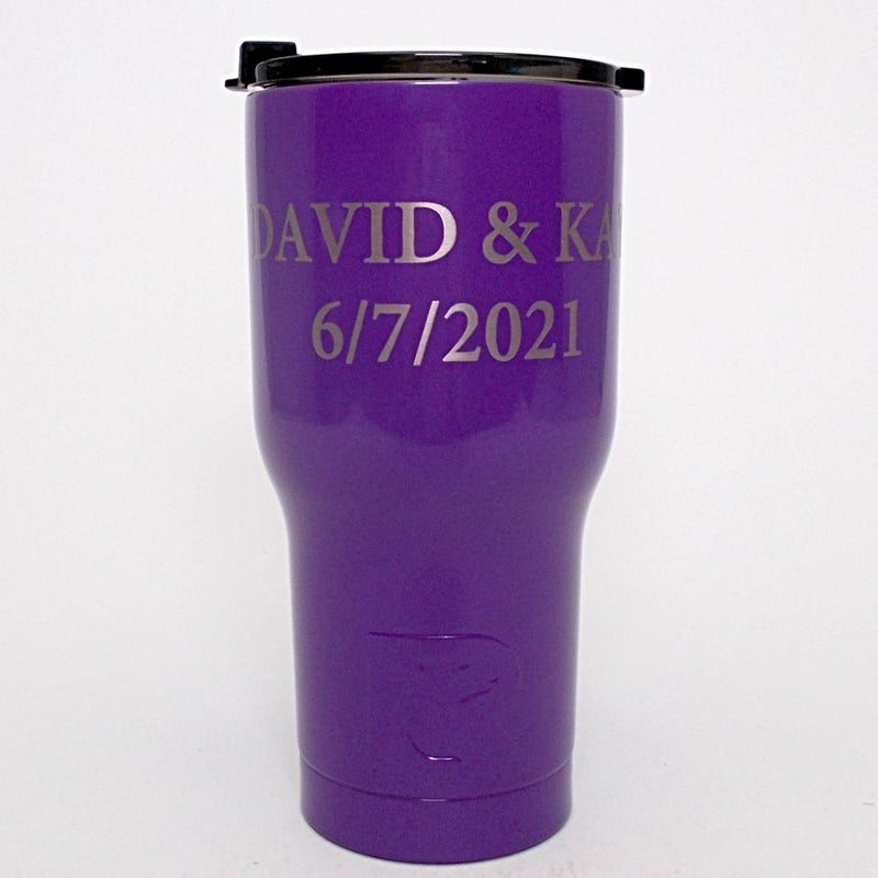20 Oz Personalized Rtic Tumbler Purple With Up To 3