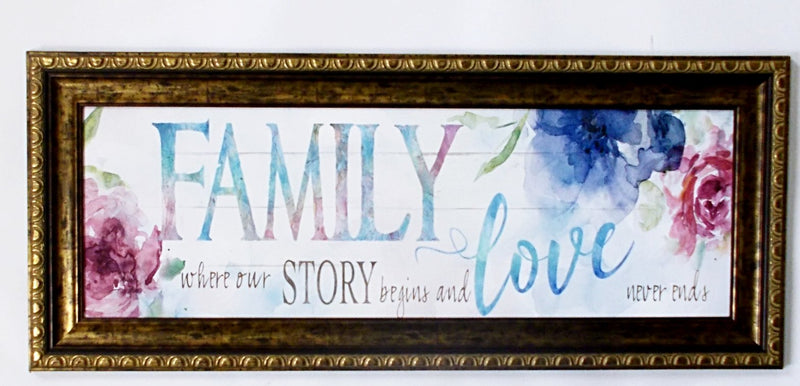 Wall Art - Family Love Story