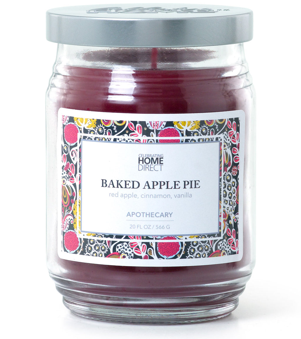 Apothecary Candle - 20 oz - Baked Apple Pie