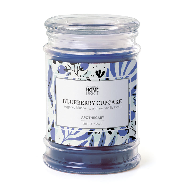 Apothecary Candle - 20 oz - Blueberry-Cupcake