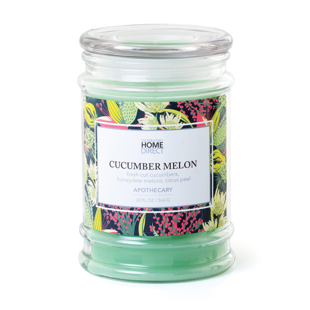 Apothecary Candle - 20 oz - Cucumber Melon
