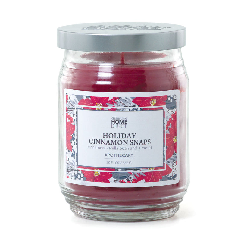 Apothecary Candle - 20 oz - Holiday Cinnamon Snaps