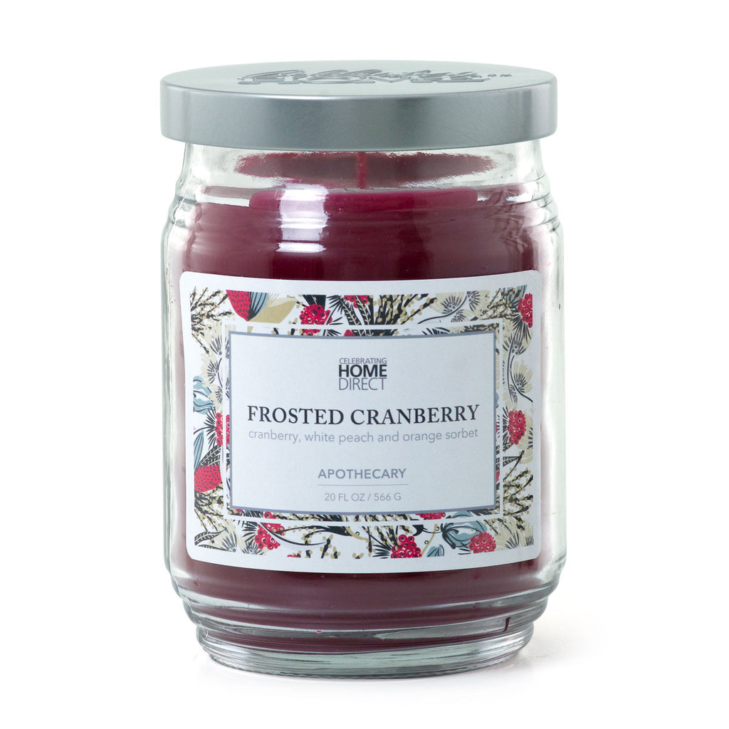 Apothecary Candle - 20 oz - Frosted Cranberry
