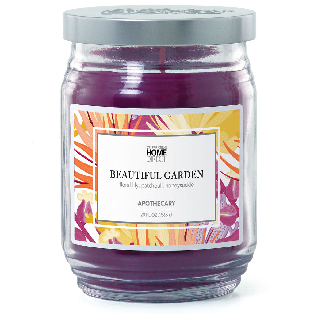 Apothecary Candle - 20 oz - Beautiful Garden