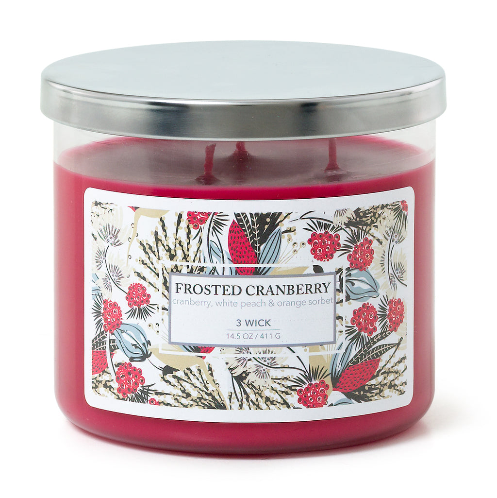 3 Wick Candle - Frosted Cranberry