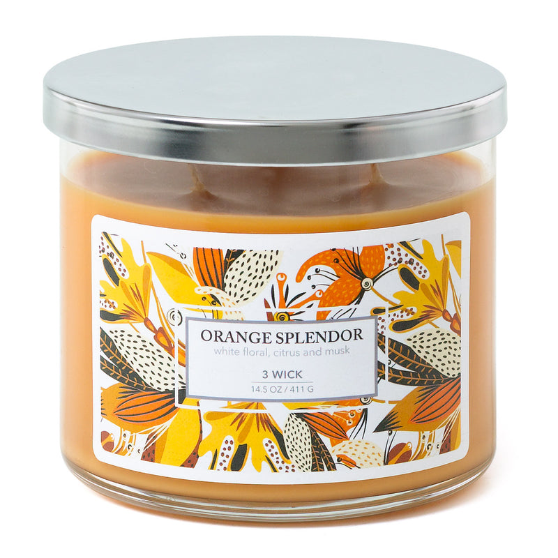3 Wick Candle - Orange Splendor