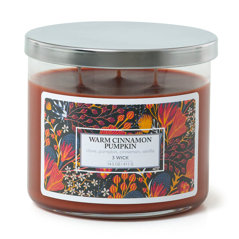 3 Wick Candle - Warm Cinnamon Pumpkin
