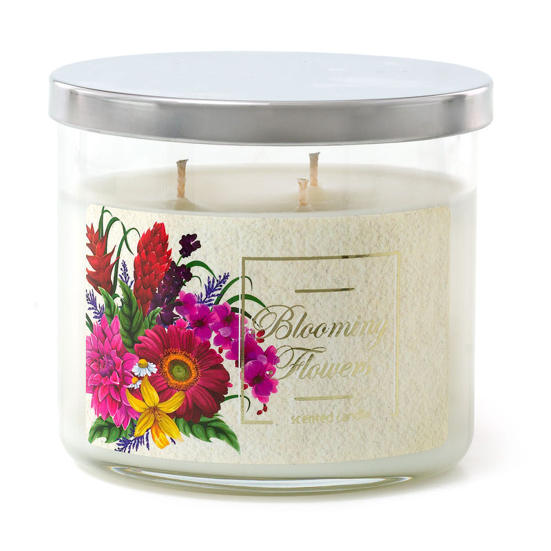 3 Wick Candle - Blooming Flowers