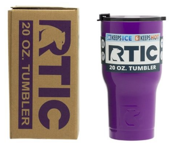 20 oz Personalized RTIC Tumbler - Purple with BIG INITIAL -        Click here to personalize!!!