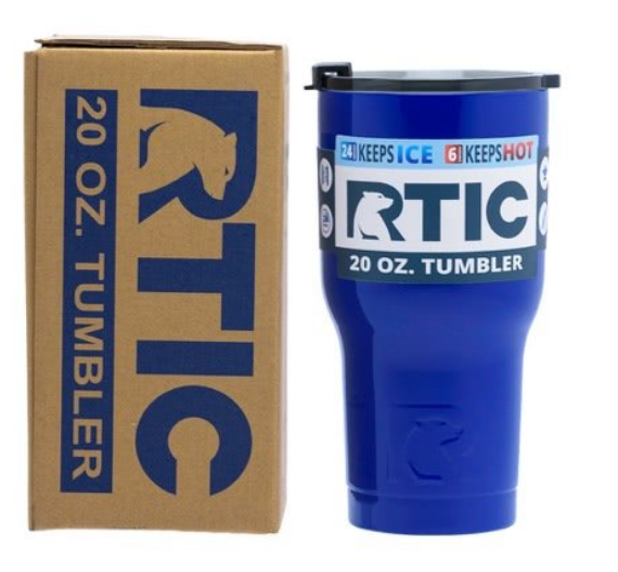 20 oz Personalized RTIC Tumbler - Royal Blue with up to 3 LINES - Click here to personalize!!!