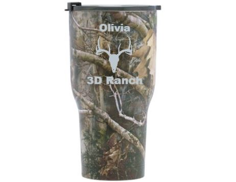 20 oz Personalized RTIC Tumbler - Camo with ICONS -       Click here to personalize!!!