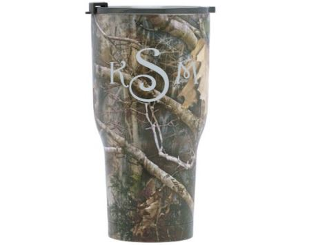 20 oz Personalized RTIC Tumbler - Camo with MONOGRAM -       Click here to personalize!!!