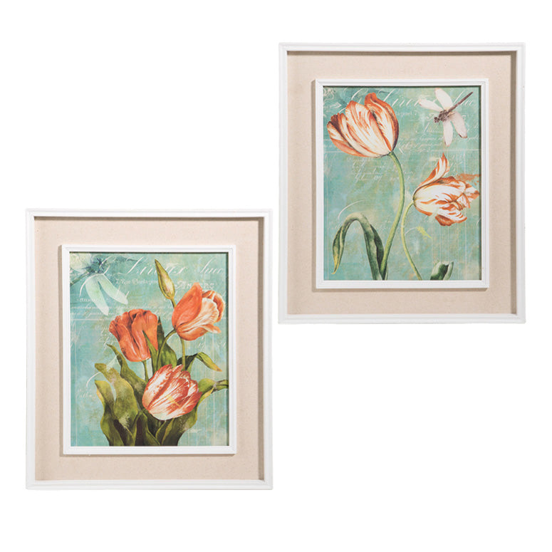 "Tulip Ablaze Prints 20.5"" - Set of 2"