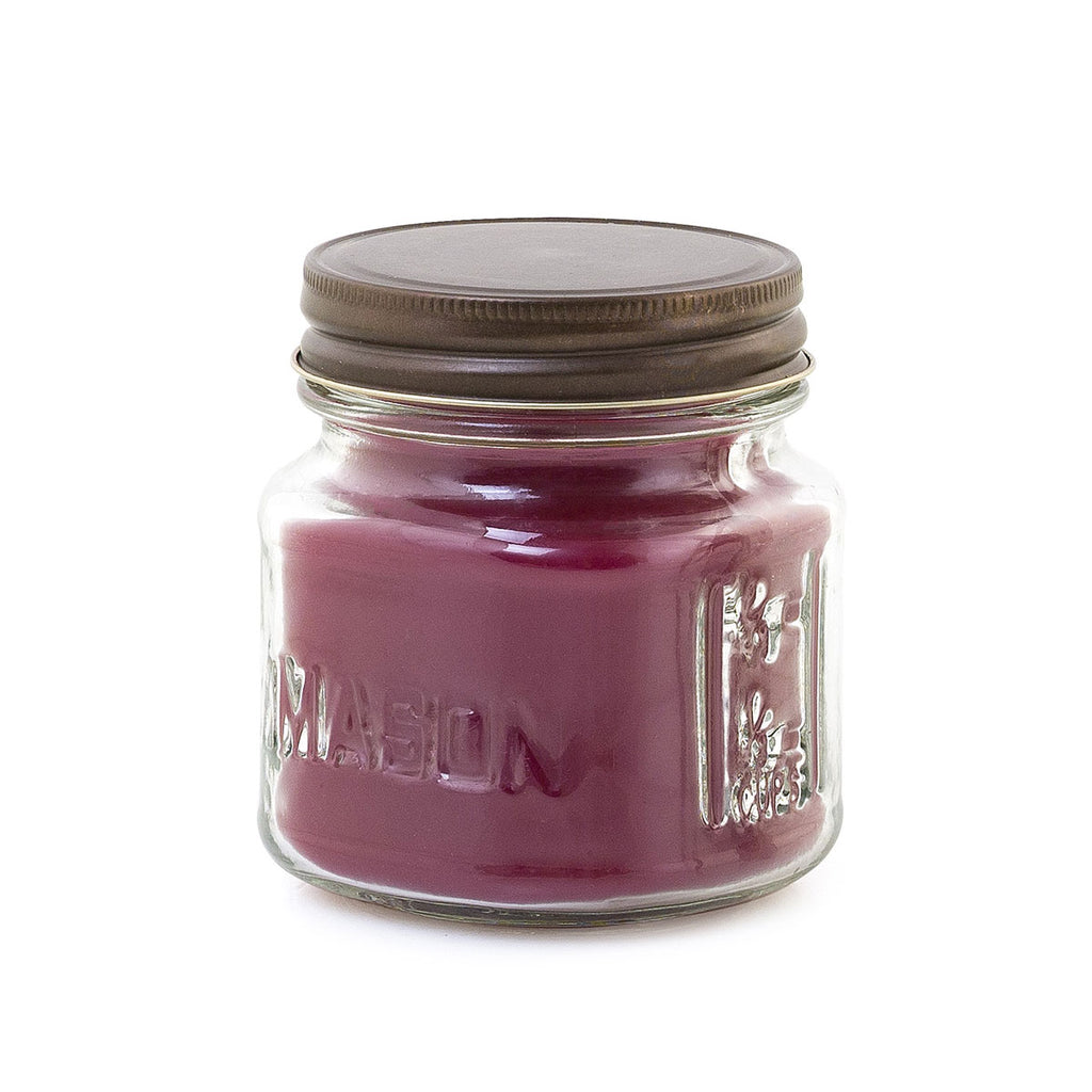 Mini Mason 8 oz. Candle - Pomegranate