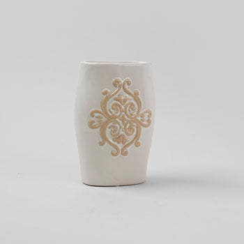 Scrolled Ceramic Vase