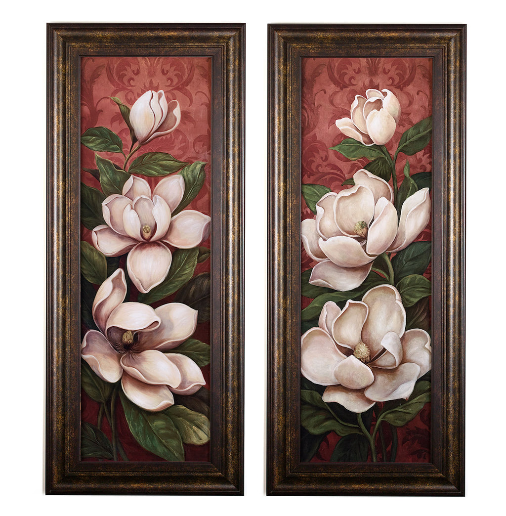 Wall Art - Magnolia Branch Panels - Set of 2