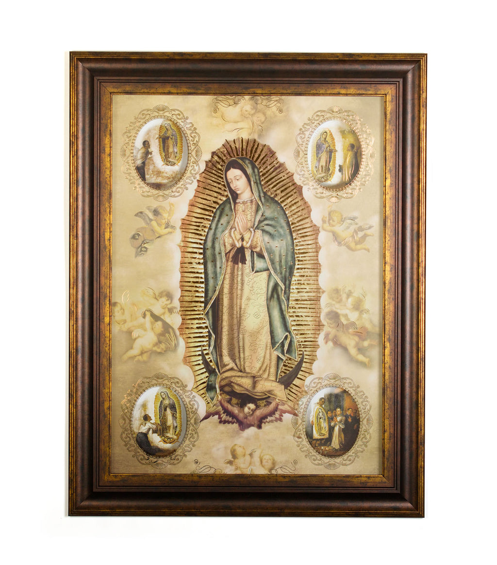 Wall Art - The Apparitions of the Virgin of Guadalupe