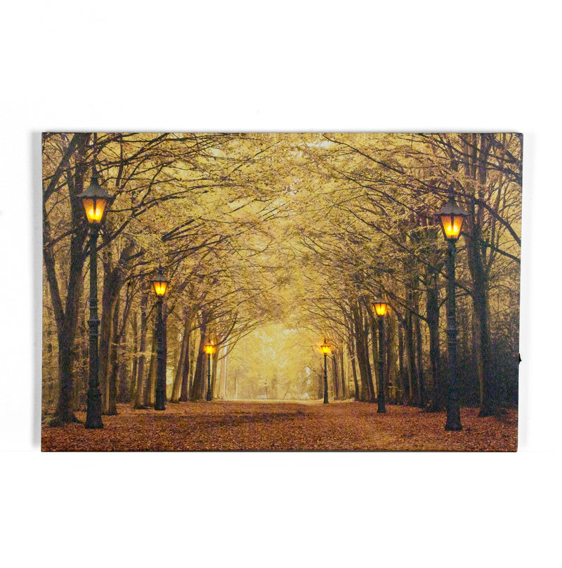 "Autumn In The Park w/LED lighting on Canvas - 24"" x 16"""
