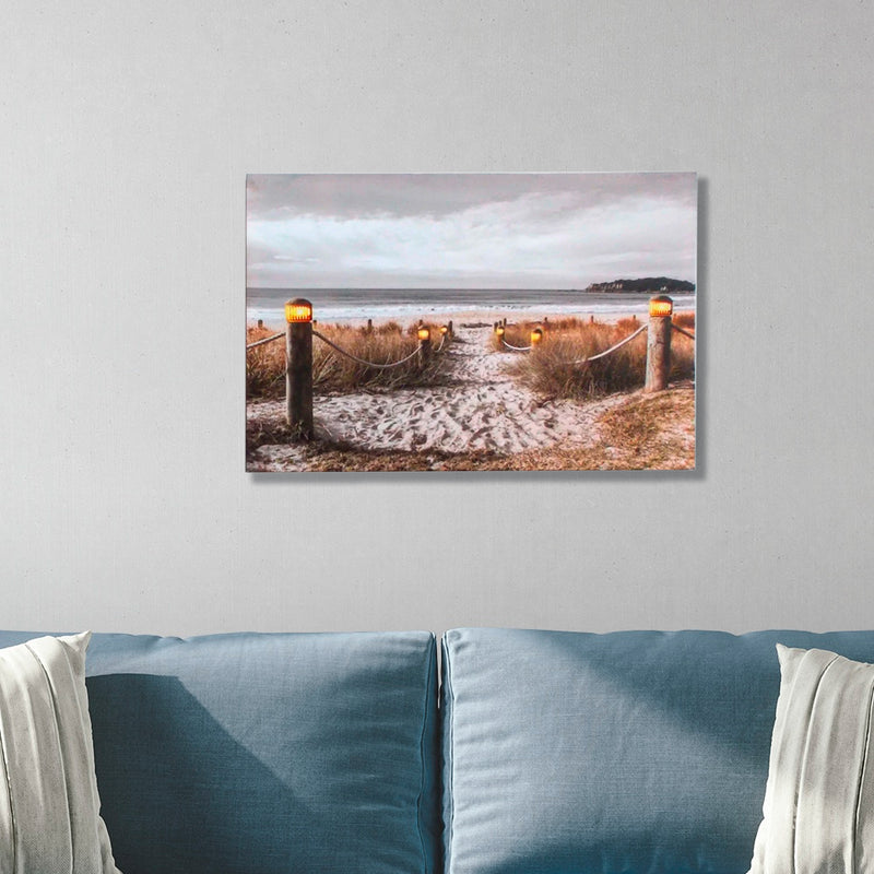 Down By The Sea w/LED lighting on Canvas