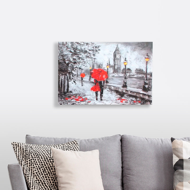 A Walk In The Park w/LED lighting on Canvas