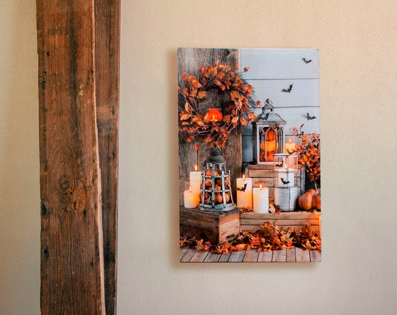 Autumn Bliss w/LED lighting on Canvas