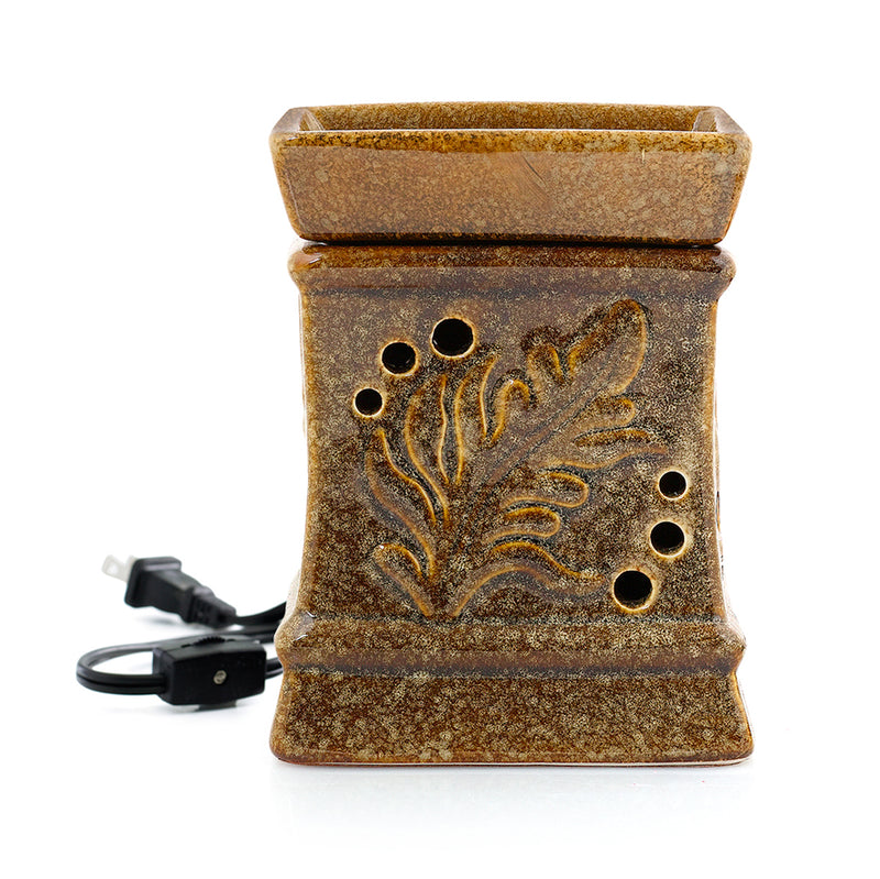 Palm Fragrance Warmer - Saddle