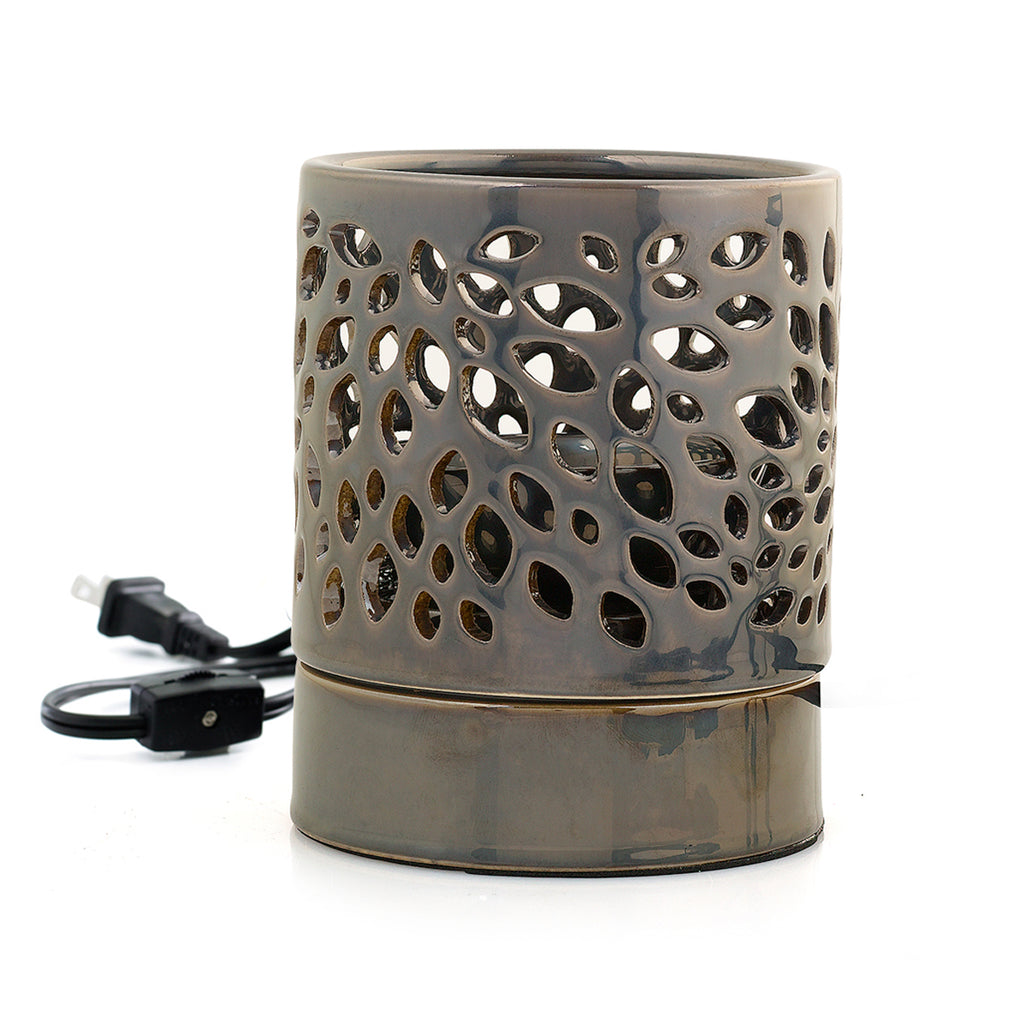 Fragrance Warmer - Pewter Leaf