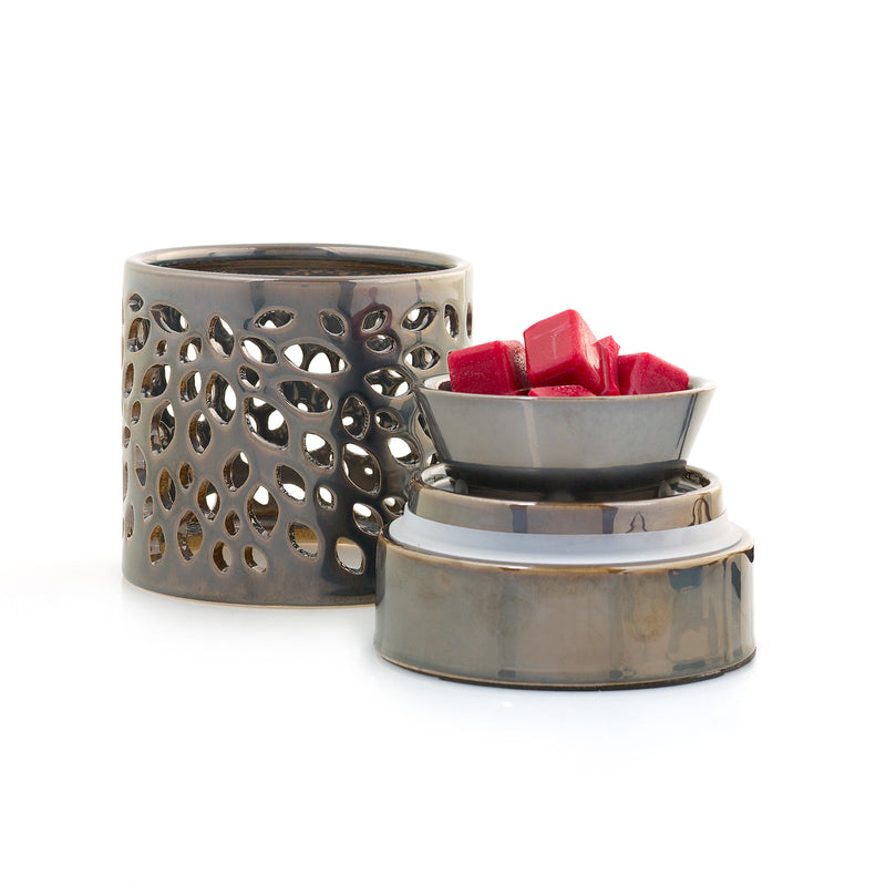 Pewter Leaf Fragrance Warmer