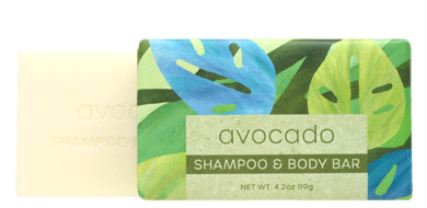 Greenwich Bay Shampoo and Body Bar - Avocado 1 Bar (4.2 oz)