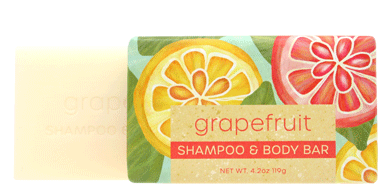 Greenwich Bay Shampoo and Body Bar - Grapefruit 1 Bar (4.2 oz)