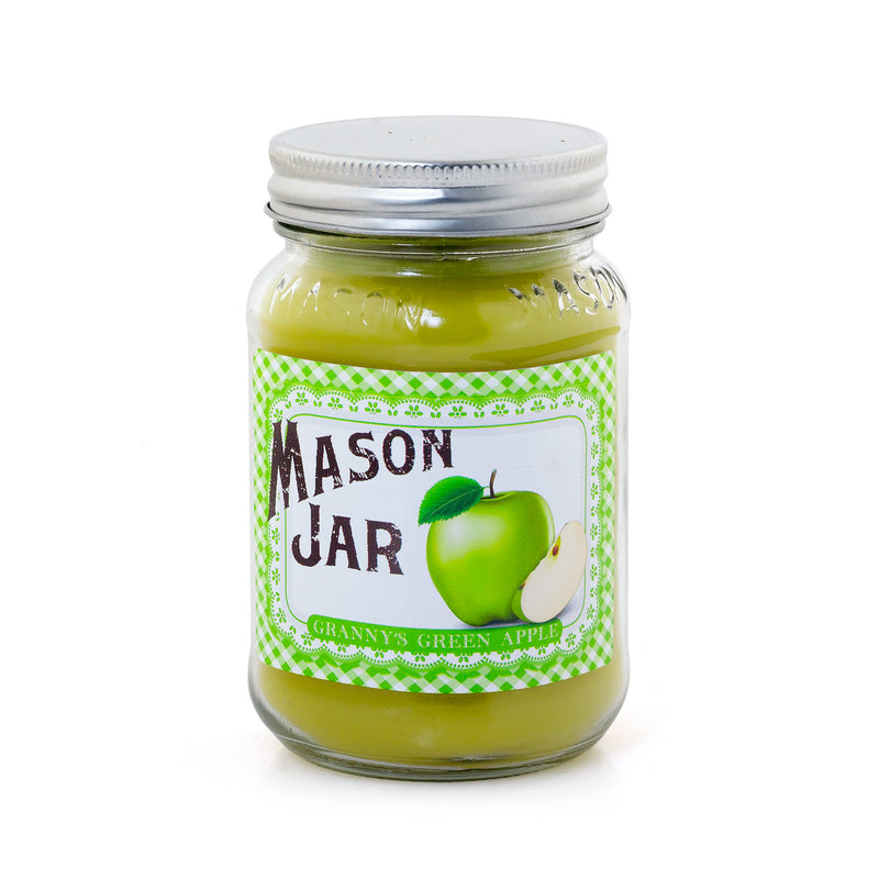 Mason Jar Candle - Granny's Green Apple