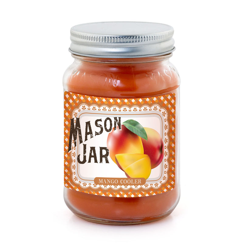 Mason Jar Candle - Mango Cooler
