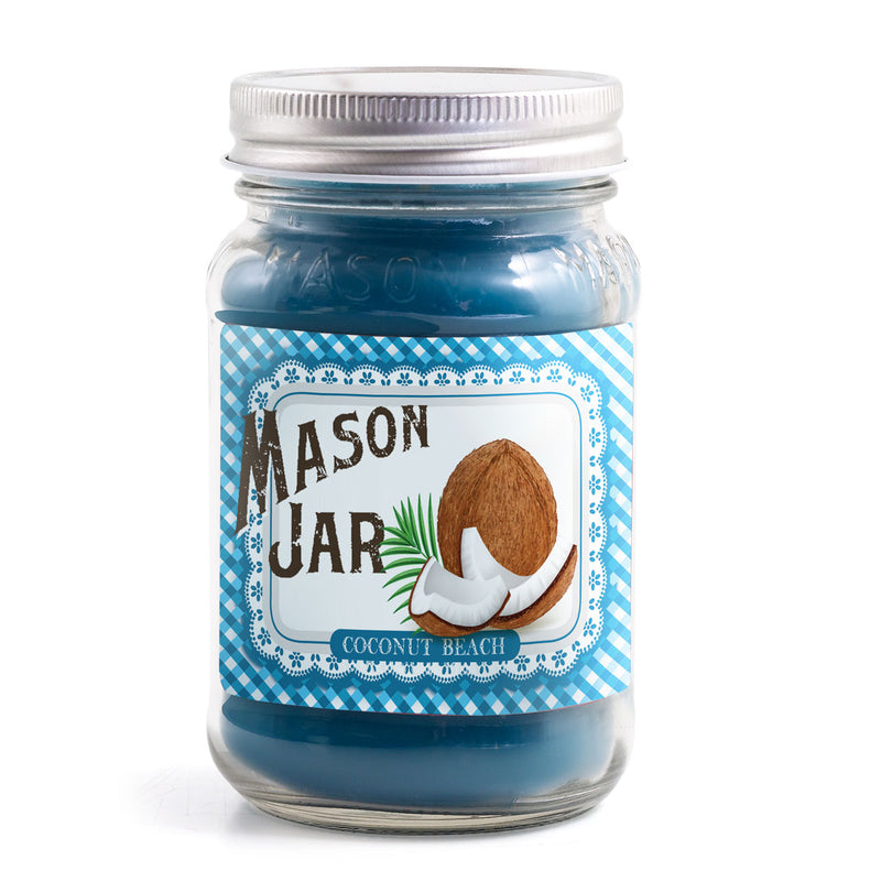 Mason Jar Candle - Coconut Beach