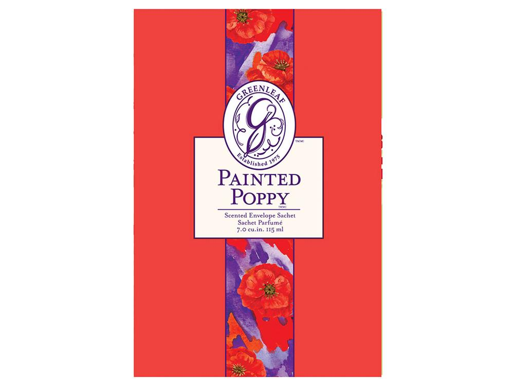 LARGE SACHET-PAINTED POPPY