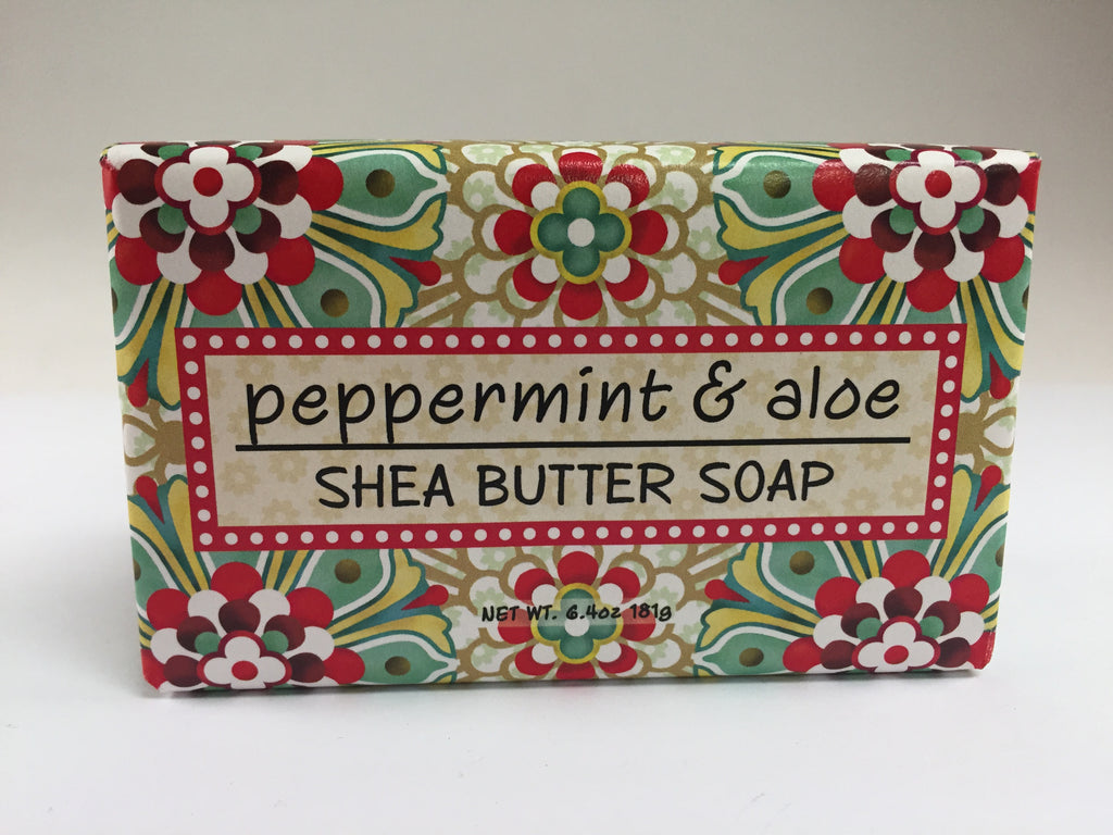 Greenwich Bay Soap - Peppermint & Aloe Shea Butter (6.4oz) 1 Bar