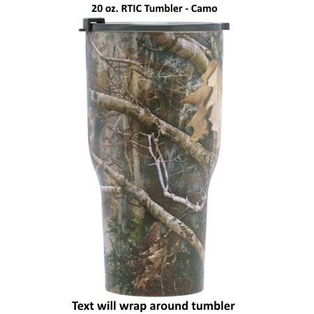 20 oz Personalized RTIC Tumbler - Camo with up to 3 LINES - Click here to personalize!!!