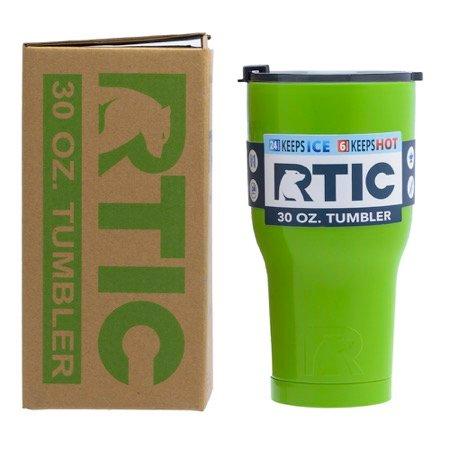 20 oz Personalized RTIC Tumbler - Lime Green with BIG INITIAL -       Click here to personalize!!!