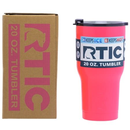 20 oz Personalized RTIC Tumbler - Pink with up to 3 LINES - Click here to personalize!!!