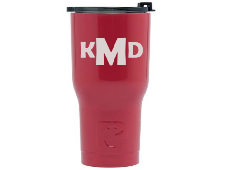 20 oz Personalized RTIC Tumbler - Red with MONOGRAM -       Click here to personalize!!!