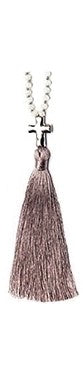 Necklace Ash Violet Tassel 36""